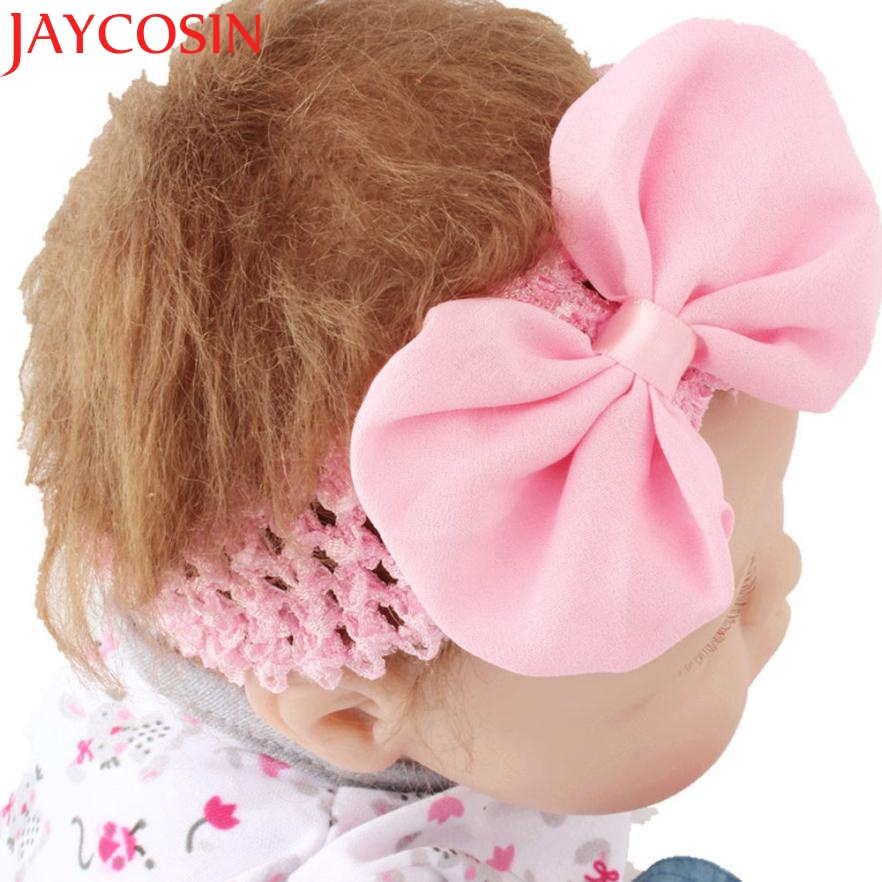 Hot 9Colors Plus Flower Bowknot Headbands Photography Props girl hair accessories Girl headband cute hair band newborn H32 free shipping 2 colors newborn kid girl elastic flower headband hairband hair accessories