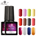 Saviland 1pcs  Three in One UV Gel Hot Sale 3 in 1 One Step Soak Off  UV Nail Gel Polish No Need Base and Top Coat