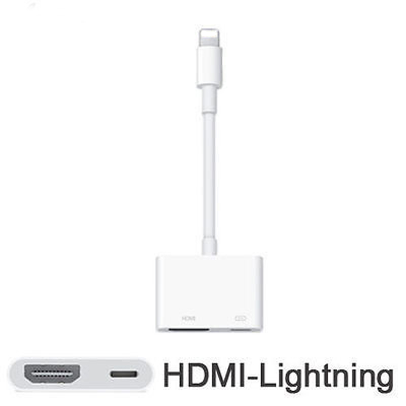 iphone to hdmi adapter. brand 100% original genuine lighting to av hdmi/hdtv tv digital cable adapter for iphone 5 5s 6 6s ipad5 7 hdmi m