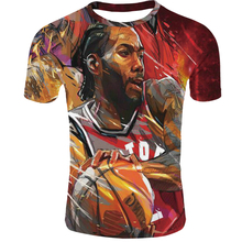 цена на 2019 hot Toronto Raptors Kawhi leonard the north T-shirt Clothes New streetwear Harajuku o-neck 3DPrinted t-shirt