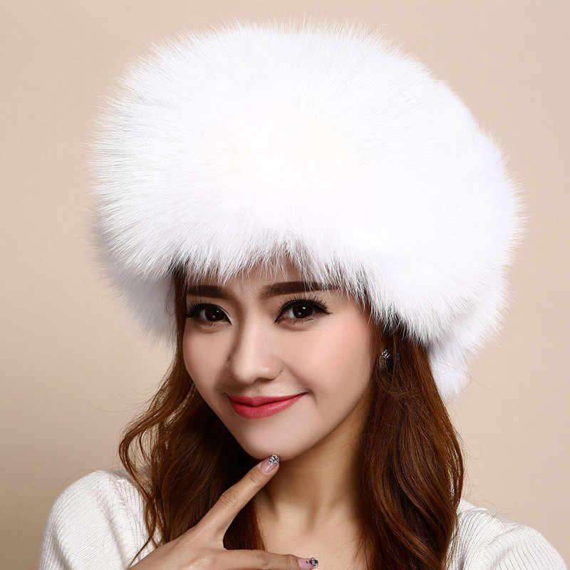 8d1645cdcc5 womens fur hat russian hat fur of real fox fur trapper hat winter warm  natural raccoon