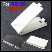 100% Высокое качество Роскошный кожаный чехол для Philips W8510 флип чехол для Philips W 8510 кожаный чехол телефона чехлы