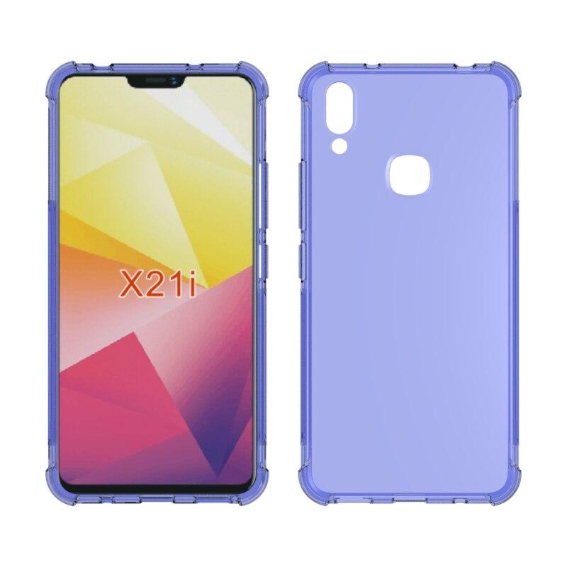 Brand gligle Anti-knock soft TPU silicon skin case cover for Vivo X21i case protective shell