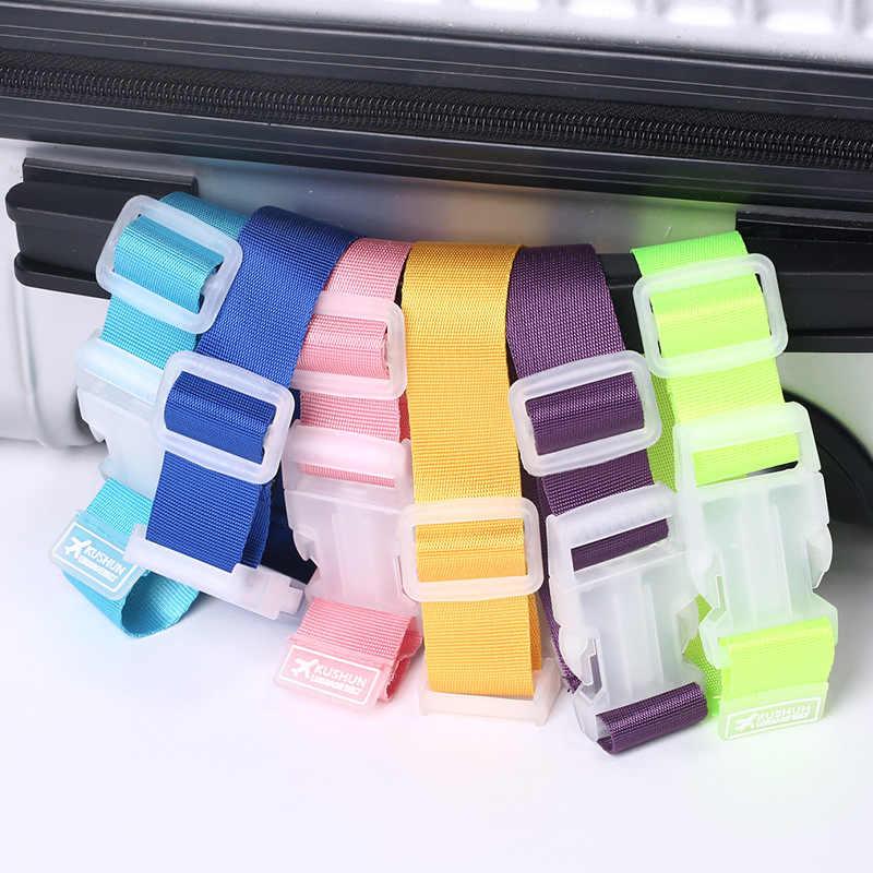 ナイロン旅行スーツケースストラップミニ調節可能なポータブル手荷物アクセサリー屋外 2 色荷物パッキングベルトフック 2.5*3 センチメートル