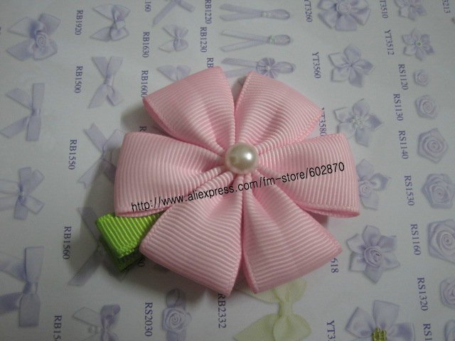 00pcs/lots Petal Flower Clip with pearl Centre HAIR CLIPPIES BEAUTIFULL Hair Clips