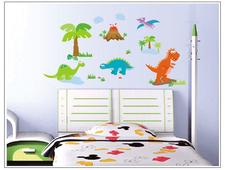 Aliexpresscom Buy Cartoon Dinosaurs Wall Sticker For Kids Baby - Dinosaur wall decals nursery