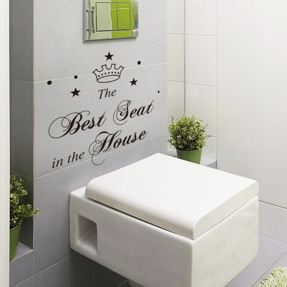 Sticker For Toilet Sticker Creations - Toilet wall stickers