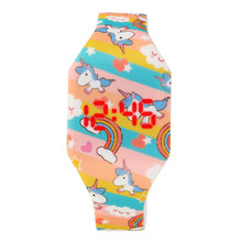 Horse Cartoon Children's Watches Cute Girl's Wrist Watch Quartz Analog Student Clock unicorn watch for girls led display watch(China)