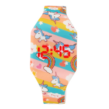 Cartoon Unicorn Children's Led Display Watches