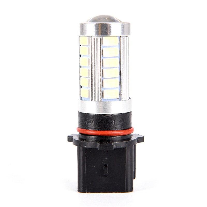 2 adet/grup P 13W evrensel araba yüksek güç LED ampuller gündüz farları PSX26W sis lambaları LED ampuller