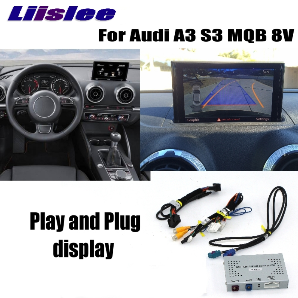 US $220 54 15% OFF Liislee Reverse Camera Interface Adapter Connect  Original Screen Monitor Upgrade Rear Camera For Audi A3 S3 MQB 8V MMI  Decoder-in