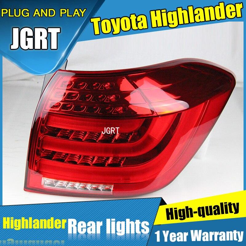 2PCS Car Styling for Toyota highlanders Taillights 2012-2014 for highlanders LED Tail Lamp+Turn Signal+Brake+Reverse LED light