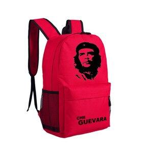 Image 2 - Che Guevara lider plakat Deamer torba plecaki płótna Unisex torby na ramię dla ucznia ty prezenty 45x32x14cm