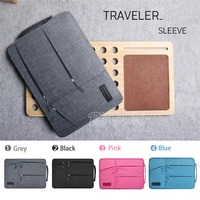 For Macbook Air Pro 11 13 15 Inch Sleeve Bag Carring Cases Dual Pocket Neoprene Zipper