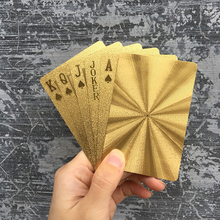 Black Golden Playing Cards Game Collection Cards Poker Set Plastic Durable Waterproof Kids Adults Games Toys Gifts Creative Fun