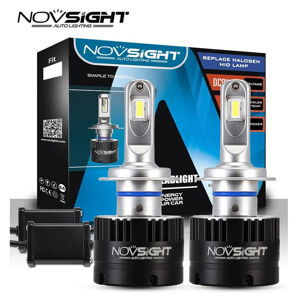 NOVSIGHT 車ヘッドライト H7 H4 LED H8/H11 HB3/9005 HB4/9006 H1 80 ワット 14400lm 自動電球ヘッドランプ 5500 6000k ヘッドライト h7 led 車のライト  グループ上の 自動車 &バイク からの 車のヘッドライトの球 (LED) の中 1