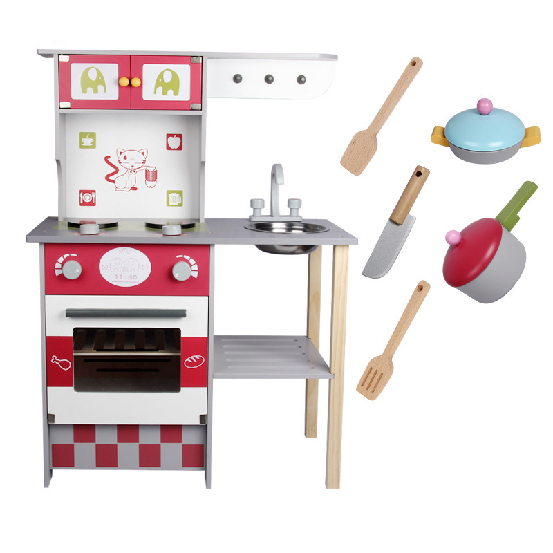 Children Cooking Artificial European Style Wooden Kitchen Toys Kids Play House Game Educational Toy For Girl children girl toys play house kitchen cooking simulation kitchen cooking playsets baby nursery baby playing housecozinha