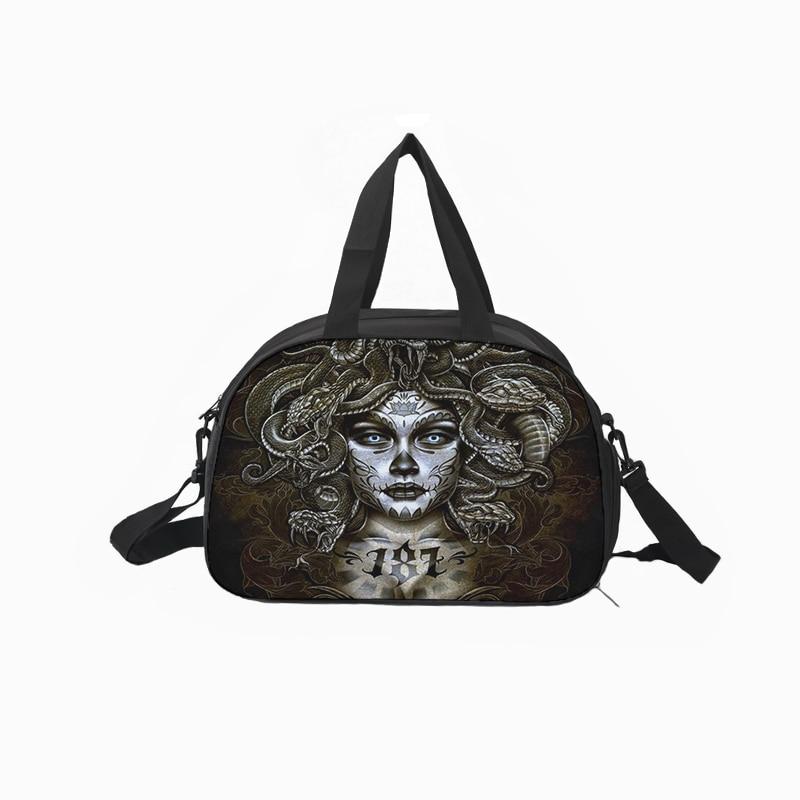 Travel Bags Vintage Mexico Skull Portable Duffel Trolley Handle Luggage Bag