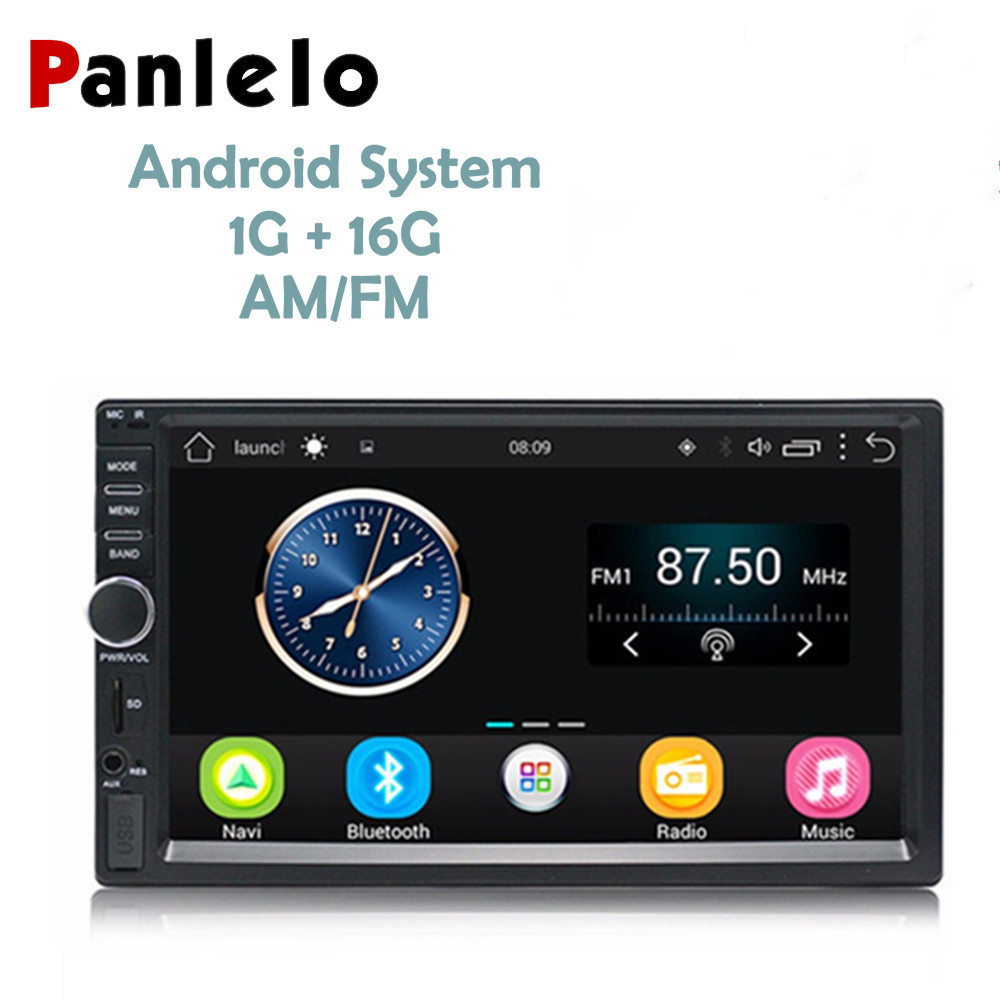 2 DIN Android Car Stereo GPS Navigation 7'' Car Video Audio Player Bluetooth Wifi AM/FM Radio USB/AUX for VW Ford Toyota Nissan