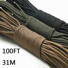 Fishing Ropes Paracord 550 Parachute Cord Lanyard Rope  7 Strand 100FT 31m The fishing line