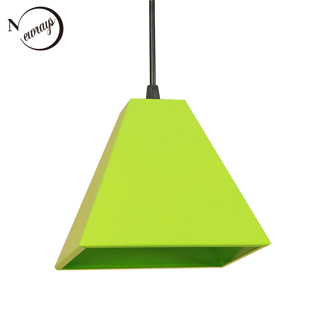 Loft country iron painted pendant light LED E27 modern simple hanging lamp with 3 colors for kids' room living room kitchen cafe nordic wrought iron simple modern pendant lamp with led bulb dinning room light cafe lamp e27 110v 220v free shipping