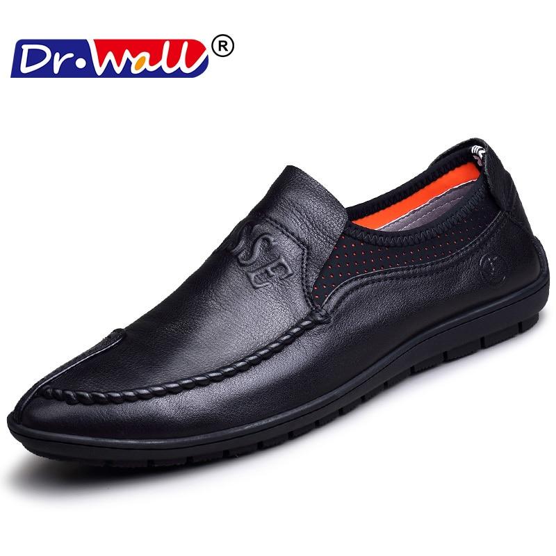 Удобные кожаные ботинки ручной - Мужская обувь - Фотография 2