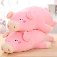 1 CÁI New Pink Màu Sắc 50 CM 65 CM Kawaii Mềm Thú Nhồi Bông Pig đồ chơi Bé Plush Đồ Chơi Sleeping Plush Doll Kids Món Quà Giáng Sinh Nhật