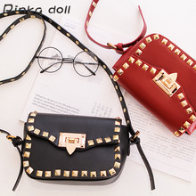 2016 Halloween Personalized Fastion Small Flap Lady Bag Panelled Rivet Women's Messenger Bags  Handbags Shopping Ladies  #B026