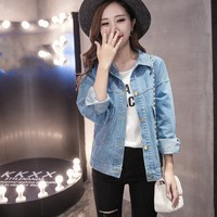 35d825ef6 2019 Spring Women Big Size Denim Jacket Pockets Summer Basic Button Pocket  Coat Blue Wash Plus. US $19.59 US $15.67. 2019 Primavera Mulheres Tamanho  Grande ...
