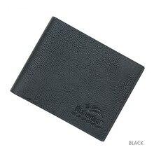 Men Wallets Ultrathin PU Leather Wallet Card Holder Black Wallet Fashion Lychee Pattern Multi-functional Stylish Men's Wallet