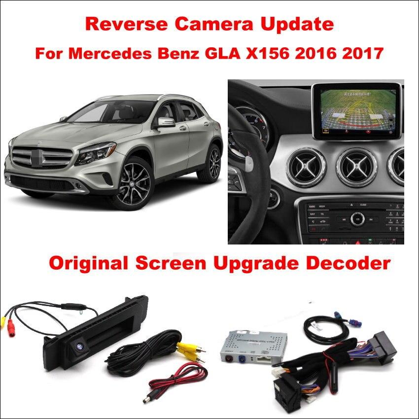 Liislee Trajectory Rear Camera For Mercedes Benz GLA X156 2016 2017 Front Camera Original Screen Update Reverse Digital Decoder