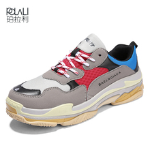466b70a24d49 POLALI 2018 Hot Sale Paris Running Shoes Women Men Triple S Sneakers Luxury  Brand Sport Shoes
