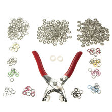 High Quality 1PC 10 Colors 100 Snap Fastener Pilers Craft Press Button Prong Ring Stud 9.5mm Snap Fastener Plier Craft