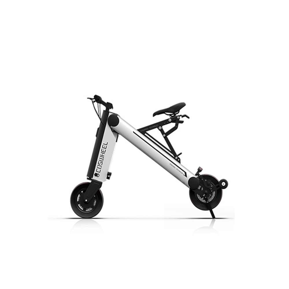 Coswheel a one 30km foldable electric scooter portable for Folding motorized scooter for adults