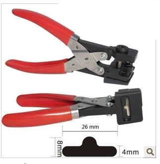 Free shipping T shape hole punch shapes furadores hardballs pvc card plier 26x8x4mm stationery supply  цены