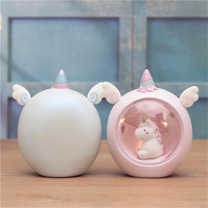 Единорог светодиодный ночного сна свет люминесцентные игрушки для детей Baby Дети мультфильм романтический Украшения в спальню освещения подарок на день рождения Рождество