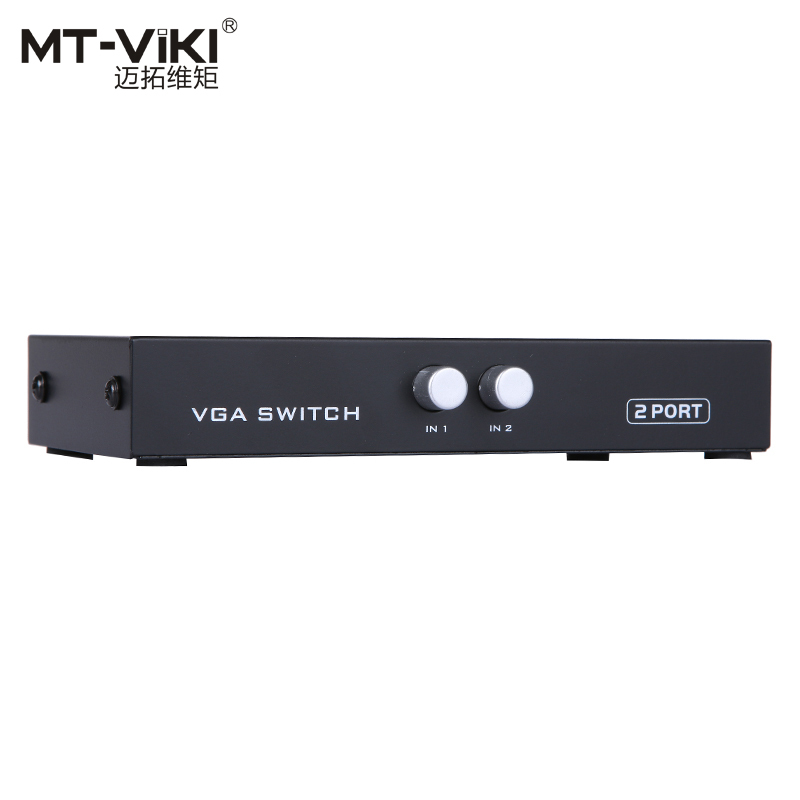 MT-VIKI 2 Port VGA Switch Video Selector D-sub Switcher 2 input 1 output 2 PC Share 1 Monitor High Resolution HD Quality 15-2CH