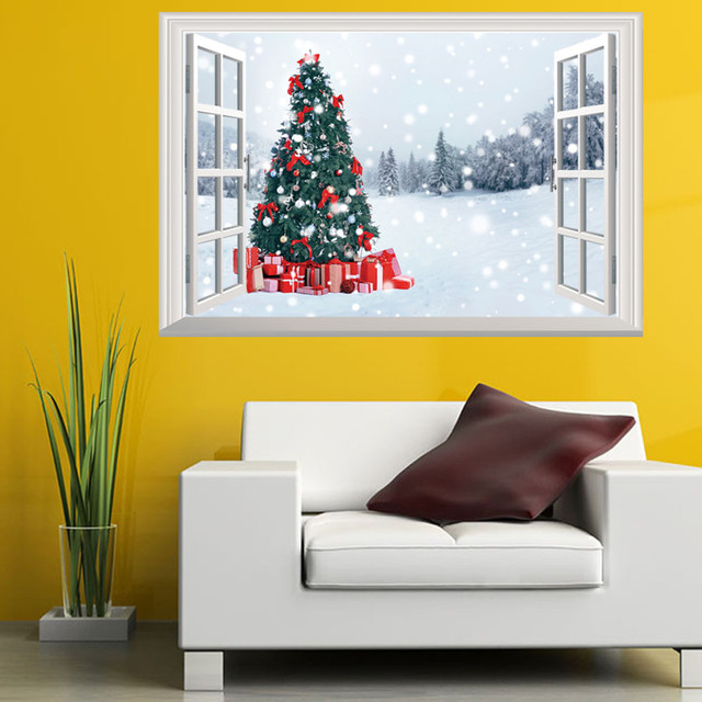 Home Decoration 3D Wall Stickers Window Sticker Christmas Decoration ...