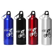 750ML Portable Aluminum metal Water font b bottle b font with keychain for font b Cycling