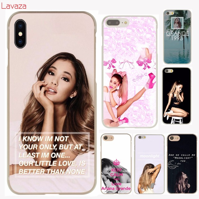 new style e6e3f 83dda US $2.59 |Lavaza Ariana Grande Hard Phone Case for iPhone 6 6s 7 8 Plus 4  4S 5 5S SE for iPhone XS Max XR Shell Cases-in Half-wrapped Case from ...