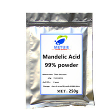 лучшая цена Mandelic acid powder 99% cosmetic raw material with high quality and purity body festival glitter for face used freckle removing