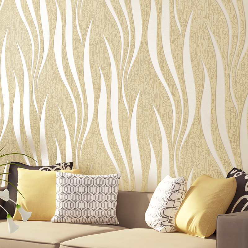 Modern Stripe Non-woven Wallpaper for TV Background Embossed Wave Suede Leather Wallpaper for Walls 3 d Wall Mural papier peint non woven bubble butterfly wallpaper design modern pastoral flock 3d circle wall paper for living room background walls 10m roll