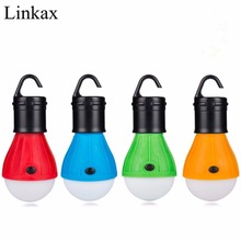 4PCs/lot Portable Outdoor Hanging 3LED Camping Lantern Light LED Camp Lights Bulb Lamp For Camping Tent Fishing By 3*AAA Battery