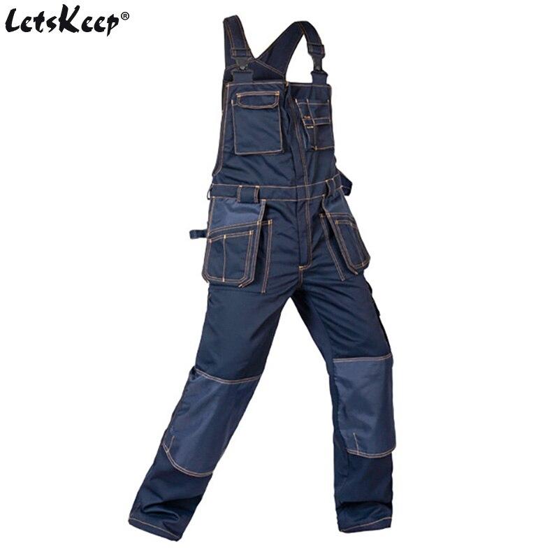 LetsKeep salopette da lavoro uomo tasche multifunzionali Salopette da - Abbigliamento da uomo