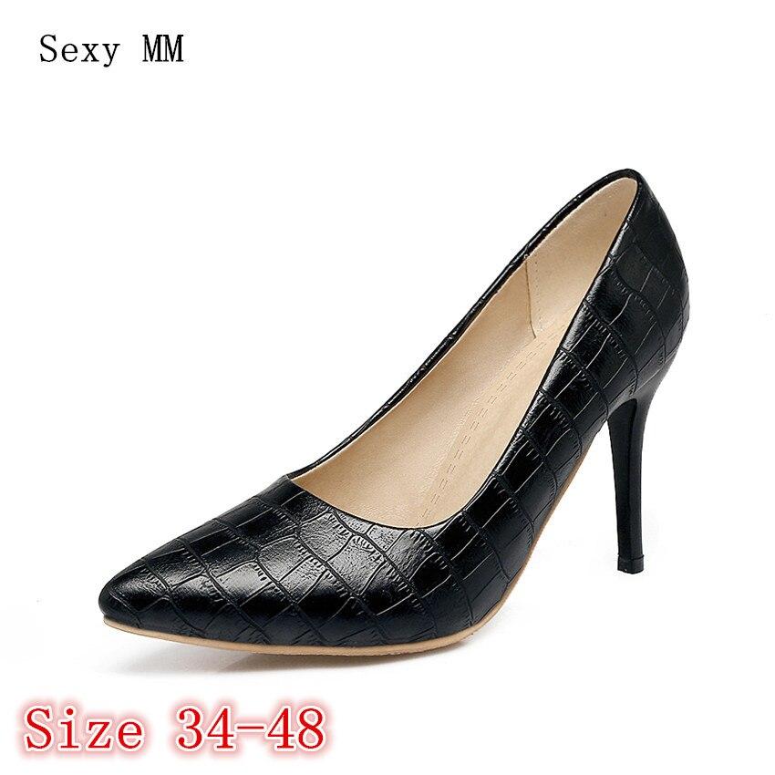 High Heels Women Pumps High Heel Shoes Stiletto Woman Party Wedding Shoes Kitten Heels Plus Size 34 - 40 41 42 43 44 45 46 47 48