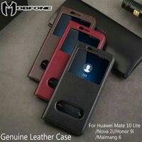 Genuine Leather Flip Case For Huawei Mate 10 Lite Nova 2i Honor 9i G10 Luxury Vintage