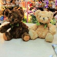 Bowknot नेकटाई आलीशान खिलौना भालू शादी भरा गुड़िया बच्चों उपहार 20 सेमी
