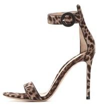 Amourplato Women s Ladies Handmade Fashion DIANVITO BOSSI Metalltc Ankle Strap High Heel Leather Sandals font