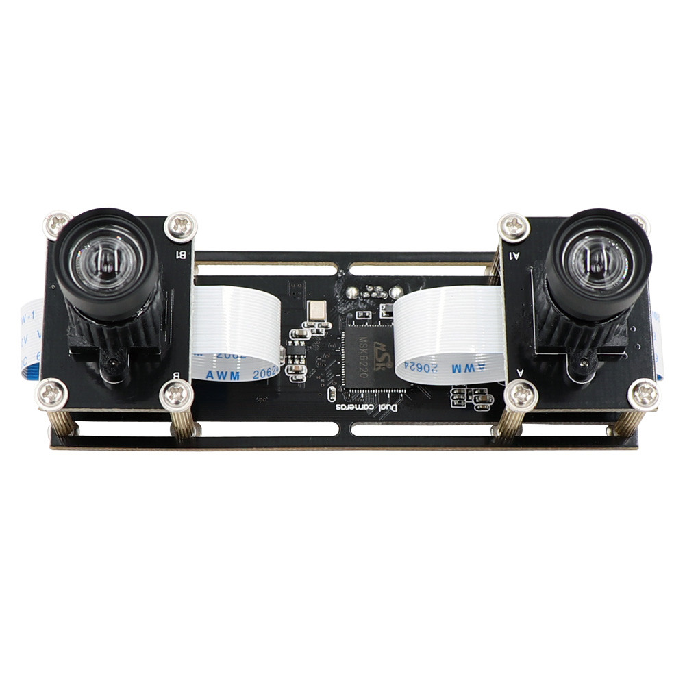 2MP 1080P Non Distortion Flexible Synchronization Stereo Webcam Dual Lens USB Camera Module For 3D VR Face Recognition