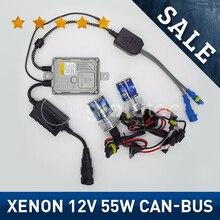 Быстрый запуск автомобилей 12В 55 Вт Шина CAN, HID, ксеноновый комплект фар HID комплект тонкий балласт XENON лампы H1 H3 H7 H8/9/11 все цвета 4300 К 6000